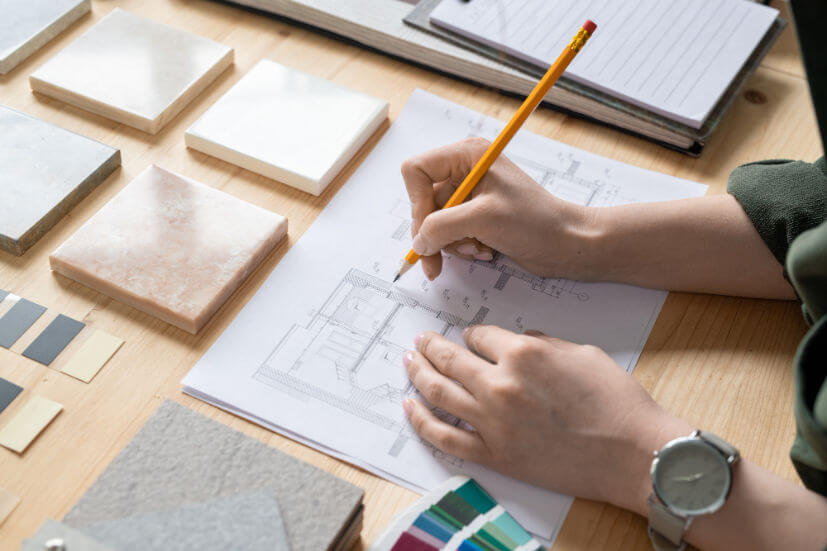 hands-young-female-designer-interior-with-pencil-sketch-paper